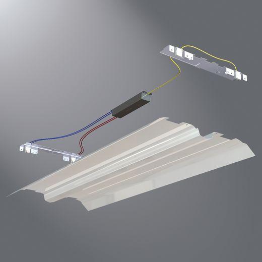 Cooper Metalux,ART-2CRK-232-W-UNV-EB81-U,Metalux® CRK Commercial Retrofit Kit, For Use With 48 in 32 W T8 Lamp, 24 in W, Code Gauge Steel/Aluminum