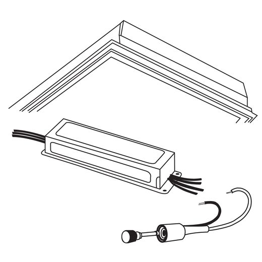 Cooper Metalux,DF-22W-U,Halo DF Framing Kit, For Use With Metalux Recessed Static Accord Series