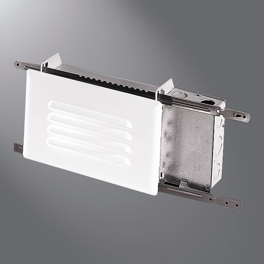 Cooper Halo,H2922ICT,Halo H2922ICT Step Light With Metal White Louvered Trim, A19 Incandescent Lamp, 25 W Fixture, 120 VAC, White Housing