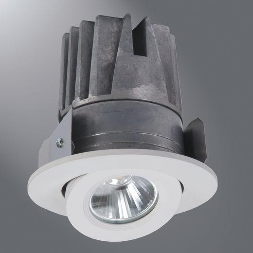 Halo - Recessed,ELG406930WH,Cooper Lighting ELG406 2nd Generation Adjustable Gimbal and Light Engine, LED Lamp, 120 VAC