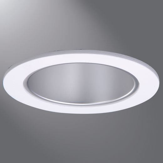 Halo - Recessed,TL410H,Cooper Lighting TL410H Light Fixture Reflector With Matte White Trim Ring, LED Lamp, 4 in, Aluminum