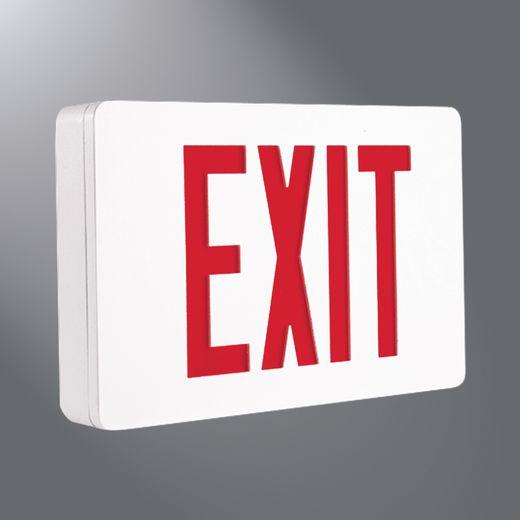 Cooper Sure-Lites,CX71WHSD,Cooper Lighting CX7 Single Face Exit Sign, LED Lamp, 120/277 VAC, White Housing, EXIT Legend