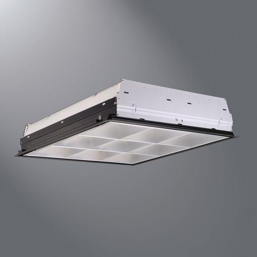 Cooper Metalux,2EP3GX-2U6T8S33I-UNV-EB81-U,Eaton Lighting Paralux III Standard Indoor Troffer, 2 T8 Fluorescent Lamp, 120/277 VAC, Steel Housing