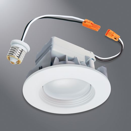 Halo - Recessed,RL460WH930PK,Halo RL4 Dimmable Retrofit LED Module, LED Lamp, 8 W Fixture, 4 in Ceiling Opening, 120 VAC, Die-Cast Aluminum Housing