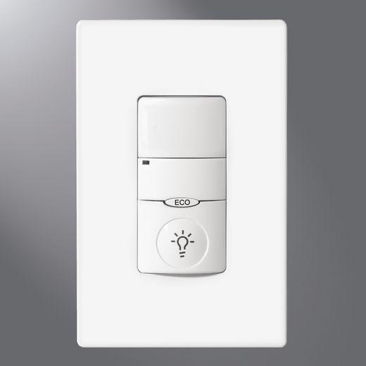 Cooper Greengate,ONW-P-1001-MV-W,Eaton Lighting NeoSwitch™ ONW-P Dual Relay Wall Mount Occupancy Sensor, 230/277 VAC, Dual Technology Sensor, 180 deg
