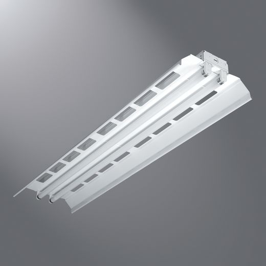 Cooper Metalux,8TIAF-232-UNV-EB81-U,Metalux® 8TIAF-232-UNV-EB81-U Universal Heavy Duty Strip Light, 4, 120/277 VAC, Baked White Enamel Housing