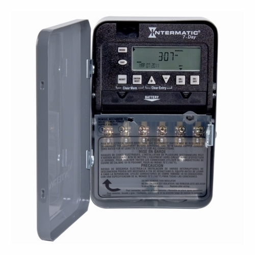Intermatic,ET1725C,Intermatic® ET1700 Electronic Time Switch, 1 min to 6 days 23 hr 59 min Time Setting, 120/277 VAC, 1 hp/2 hp, 1 Pole