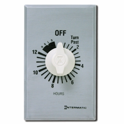 ITS FF12HHC 12 Hour Spring Wound Timer 125-277 V SPST w/ Hold For Continuous Duty