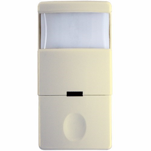 INT IOS-DSR-IV Decorator PIR vacancy/occupancy sensor, 180 degree, single relay, no neutral wire required Ivory