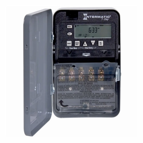 Intermatic ET1715C 7Day 2030 Amp Spdt Electronic Timeswitch Clock Voltage 120277V Nema 1
