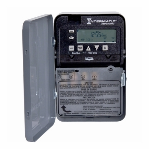 Intermatic ET8015C 7-Day Electronic Astronomic Time Switch, NEMA 1 Indoor Steel Case, 1 Circuit, SPST