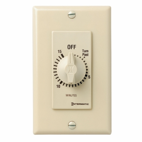 Intermatic FD15MC Decorator Spring Wound 15 Minute SPST Wall Timer; Ivory
