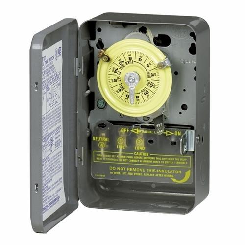 Intermatic T102 NEMA 1 Steel Case 208 to 277 VAC 60 Hz 40 Amp SPST Electromechanical Time Switch