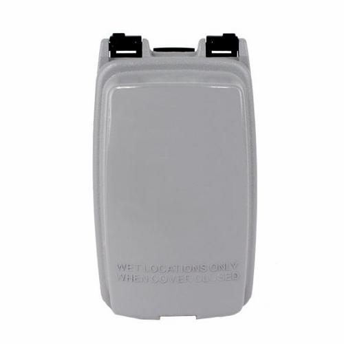 "Intermatic WP1000GC 1Gang Vertical Weatherproof In-Use Cover, 2-1/4"" Deep - Gray"