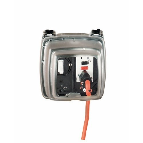 Intermatic WP1230C 2-Gang Vertical Hinge 3-1/8 Inch Receptacle Cover with Guard Insert