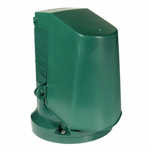 Intermatic WP2000 1-Gang Vertical Hinge 2-1/2 Inch Green Flexible Guard Outlet Post