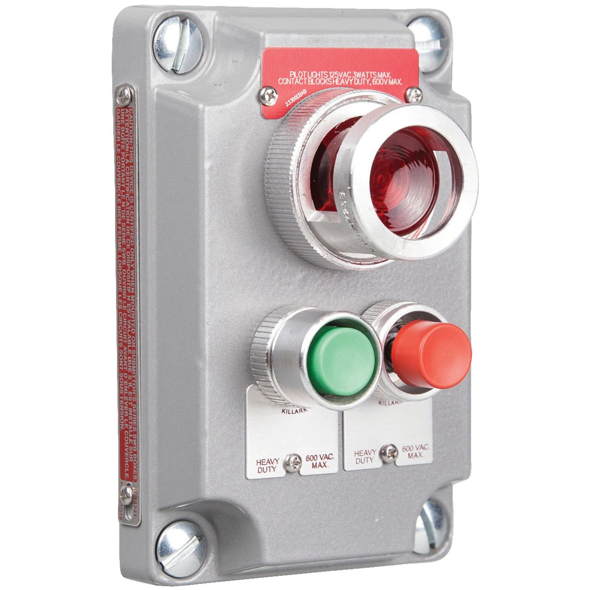 KILLARK,XCS-0A15,CLI RED-GRNPB&110V RD PL CV(CS