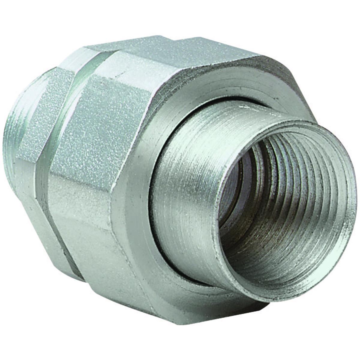 Killark® UNY2 Male to Female Conduit Union, 3/4 in, Steel, Electro-Plated Zinc