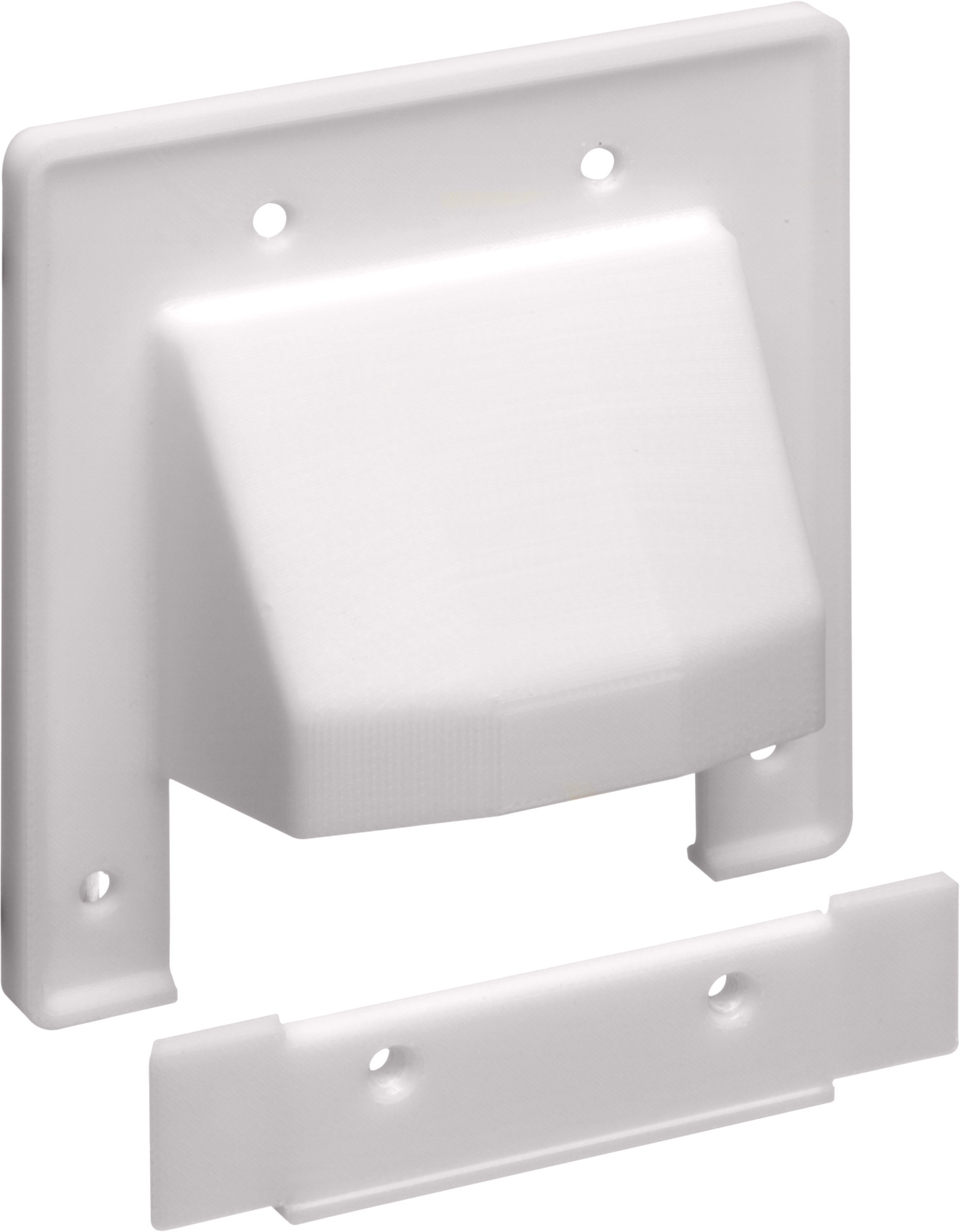 ARL CER2 Cable 2G 2-PC Scoop Plate White