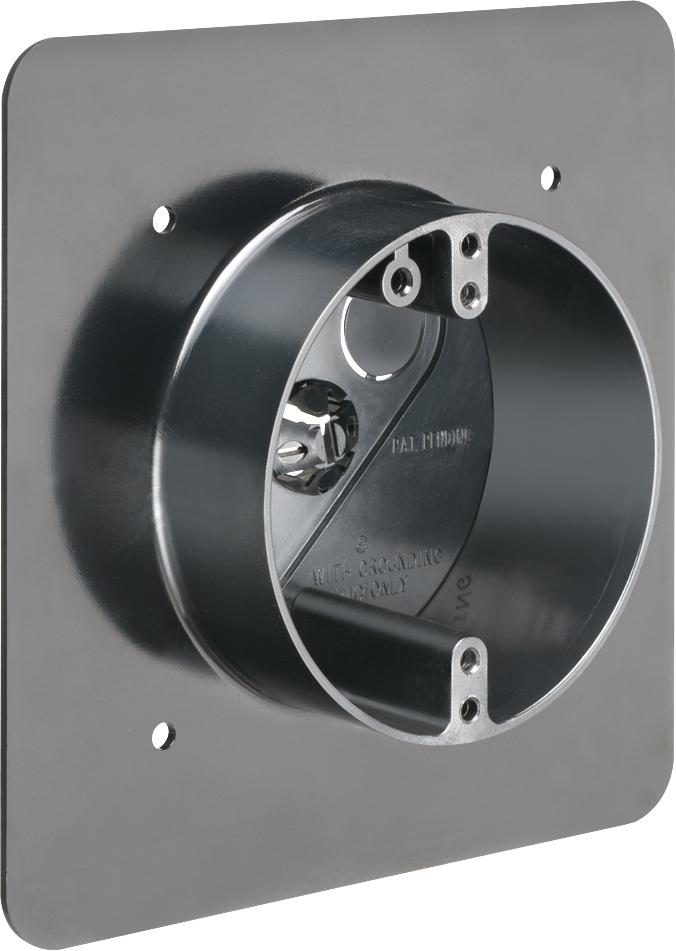 ARL FR420F REV STUCCO BOX W/FLG Arlington Industries FR420F 1/2 to 1-1/4-inch Mounting Block for Stucco or Flat Siding, Black