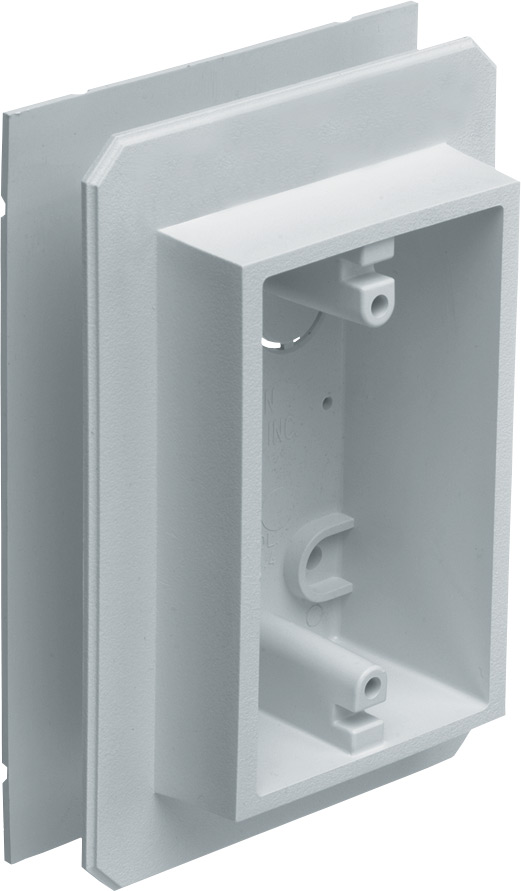 White Arlington Industries Arlington 8081F Siding Box Kit For Fixtures and Receptacles Inc Cover with Flanges 1-Pack