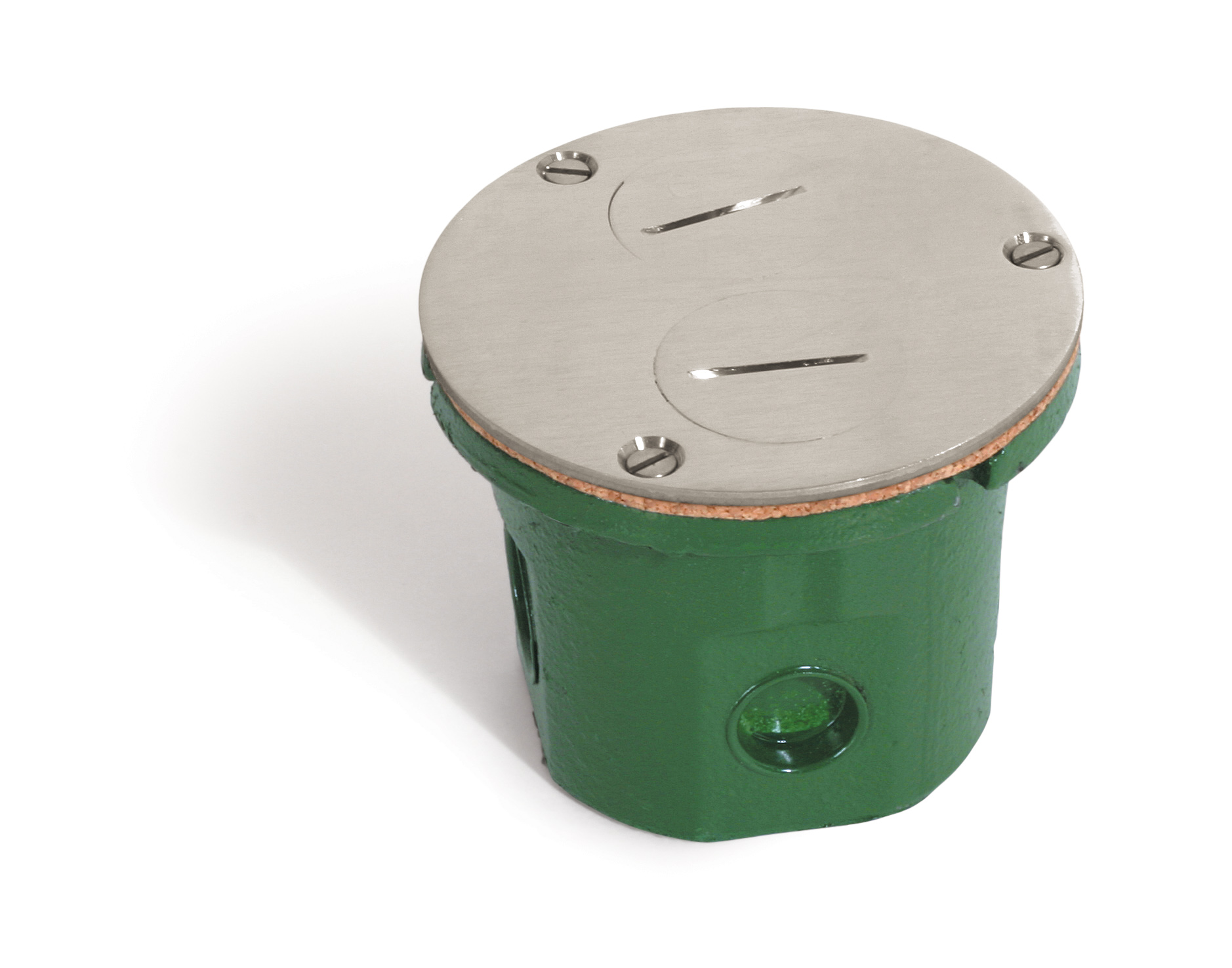 Lew Fittings 812-DFB-NS Non-Adjustable Box with Nickel Silver Cover