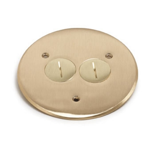 Lew Electric Fittings,TCP-2,Lew Electric TCP-2 Flanged Cover With (2) 1-1/2 in Screw Plugs, 5-3/4 in Dia, Brass