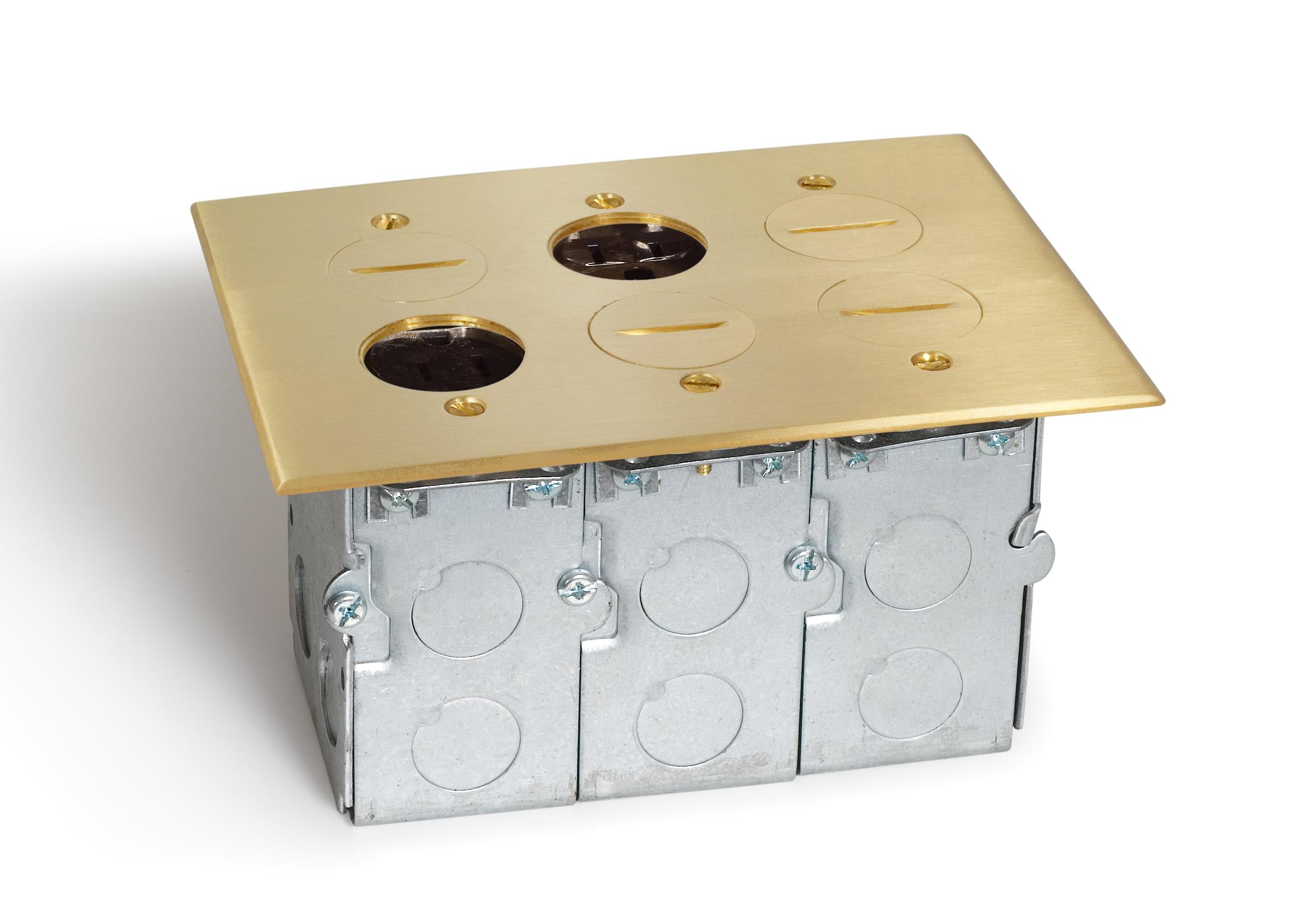 SCREWLID 3 GANG BOX, 3-DPLX & 1-QUAD