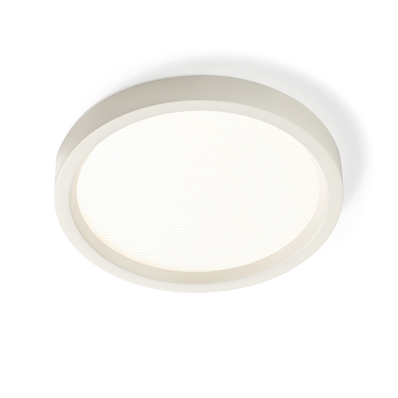"LOL S5R830K7 5"" Round Low Profile Surface LED Downlight, 3000K, 600Lumen, White, Wet Location"