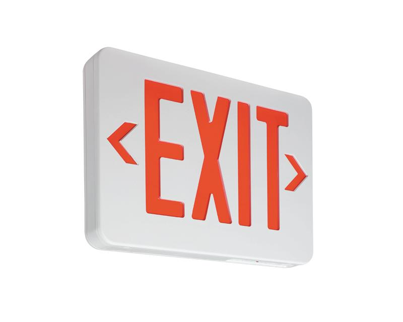 Thermoplastic Exit,AC only,red LED, univ