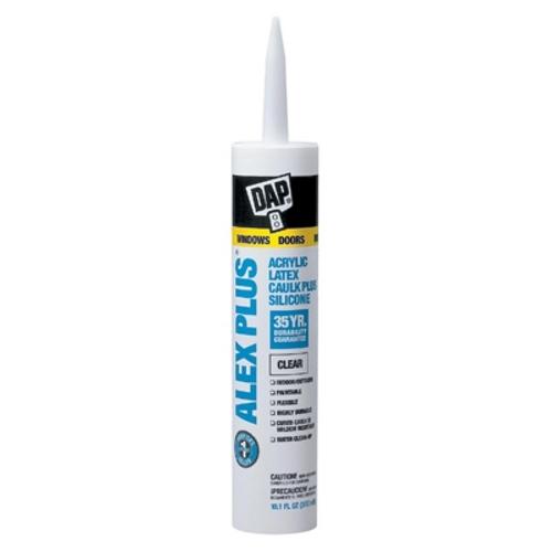 MET WDEC10 10.1oz Alex Plus Acrylic Latex Caulk CLEAR