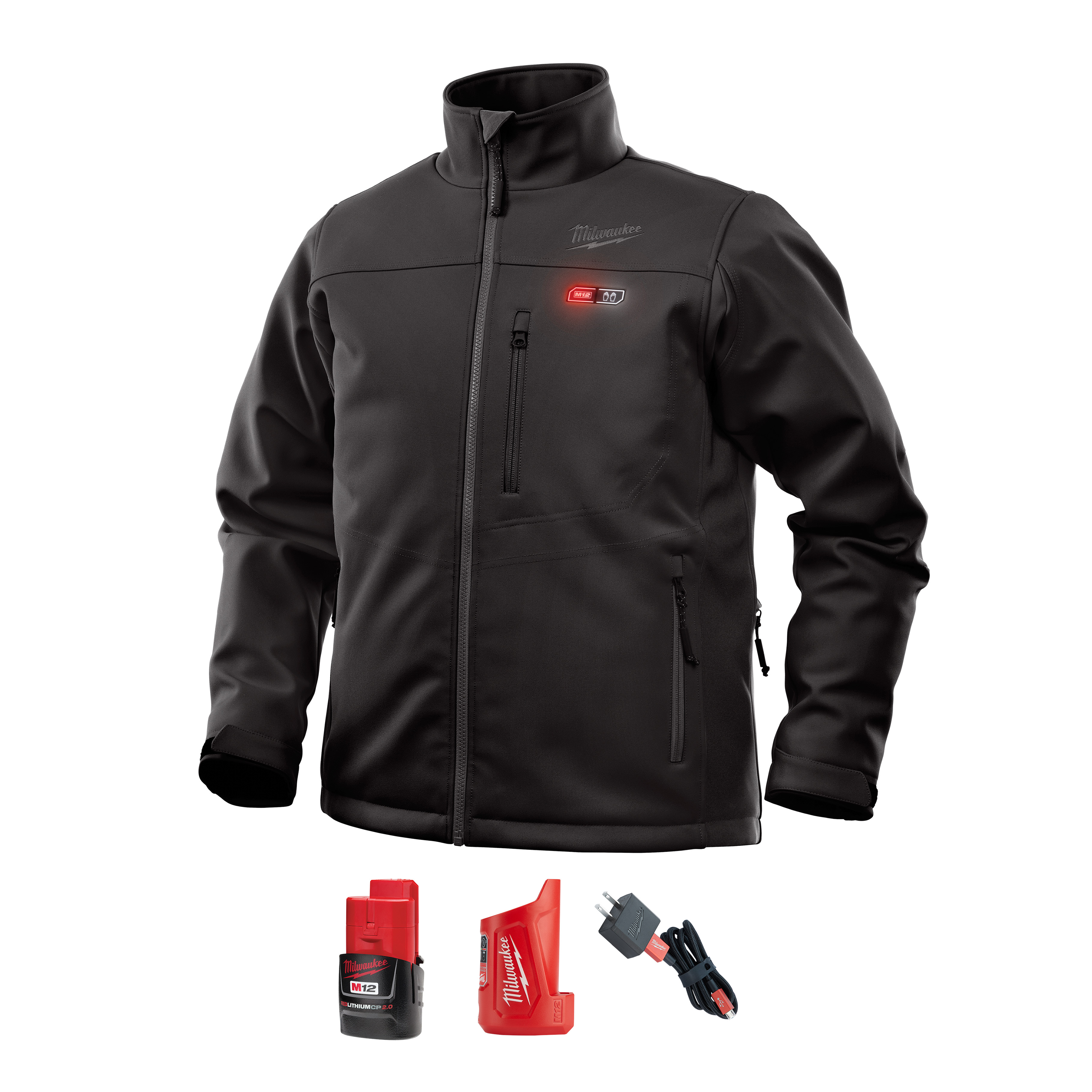 Milwaukee 202B-21S M12™ Heated ToughShell™ Jacket Kit, Black - Small