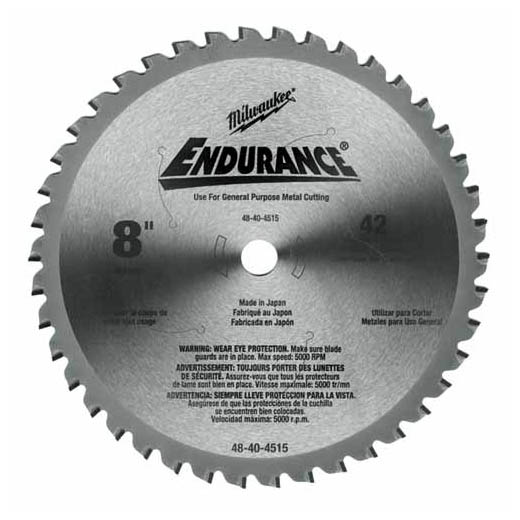 "Milwaukee 48-40-4515 8"" 42 Tooth Dry Cut Cermet Tipped Circular Saw Blade"