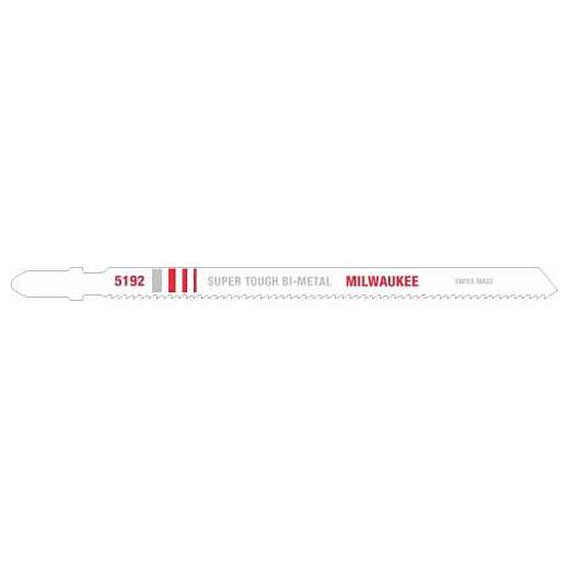 "Milwaukee 48-42-5192 5-1/4"" 14 TPI Bi-Metal Jig Saw Blade (5 Pack)"