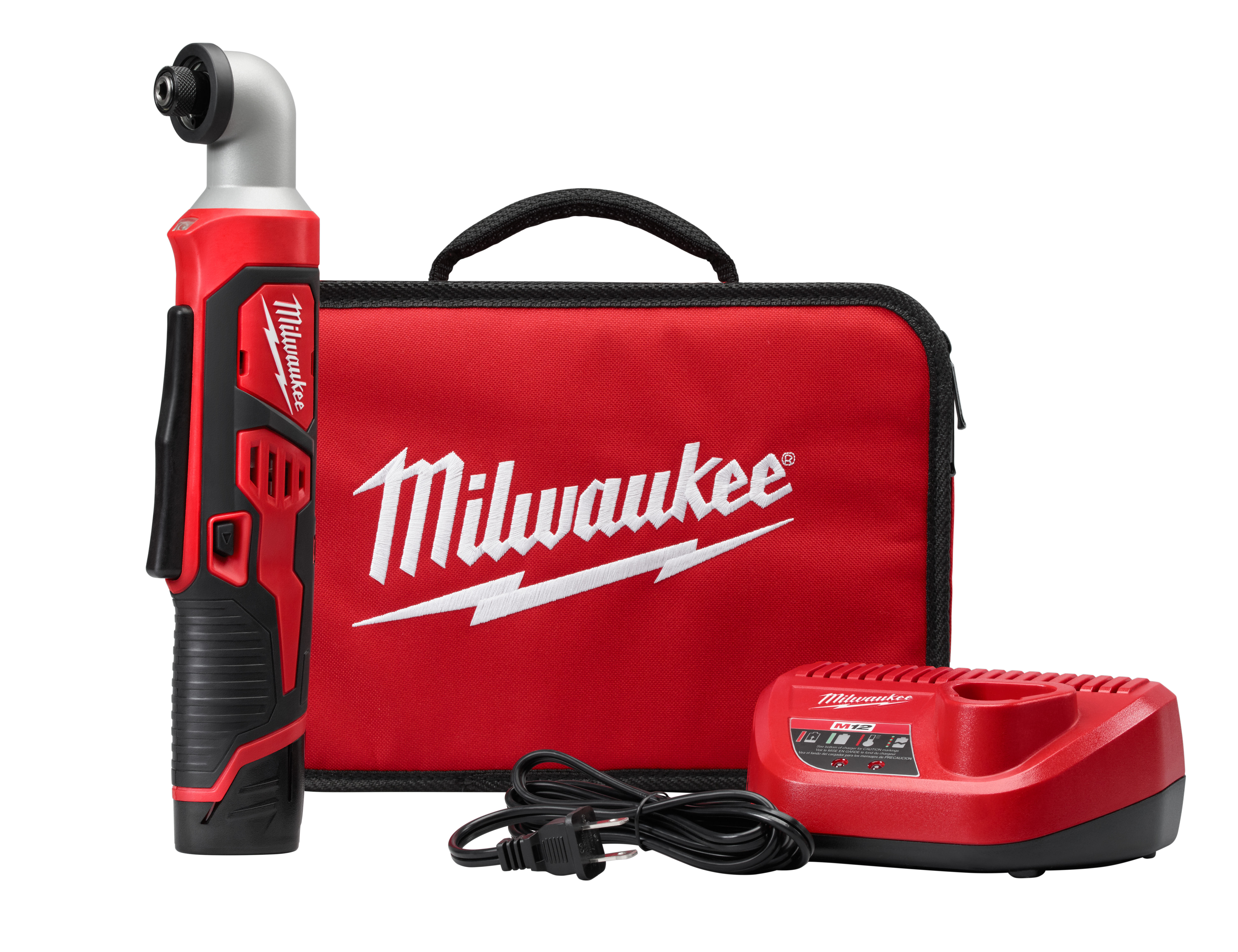 "Milwaukee 2467-21 M12™ 1/4"" Hex Right Angle Impact Driver Kit"