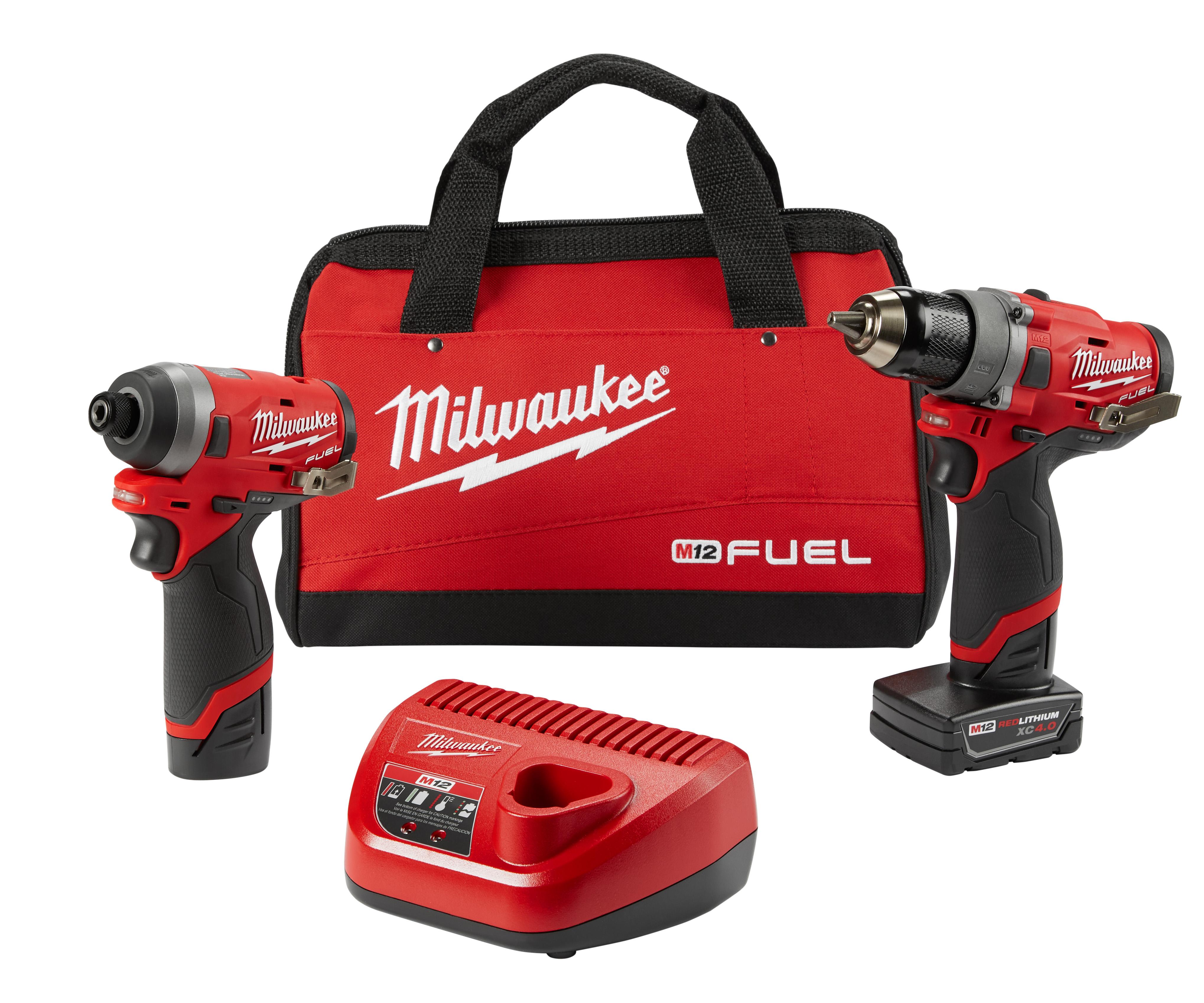 MILW 2596-22 M12 FUEL 2-Tool Combo Kit 1/2