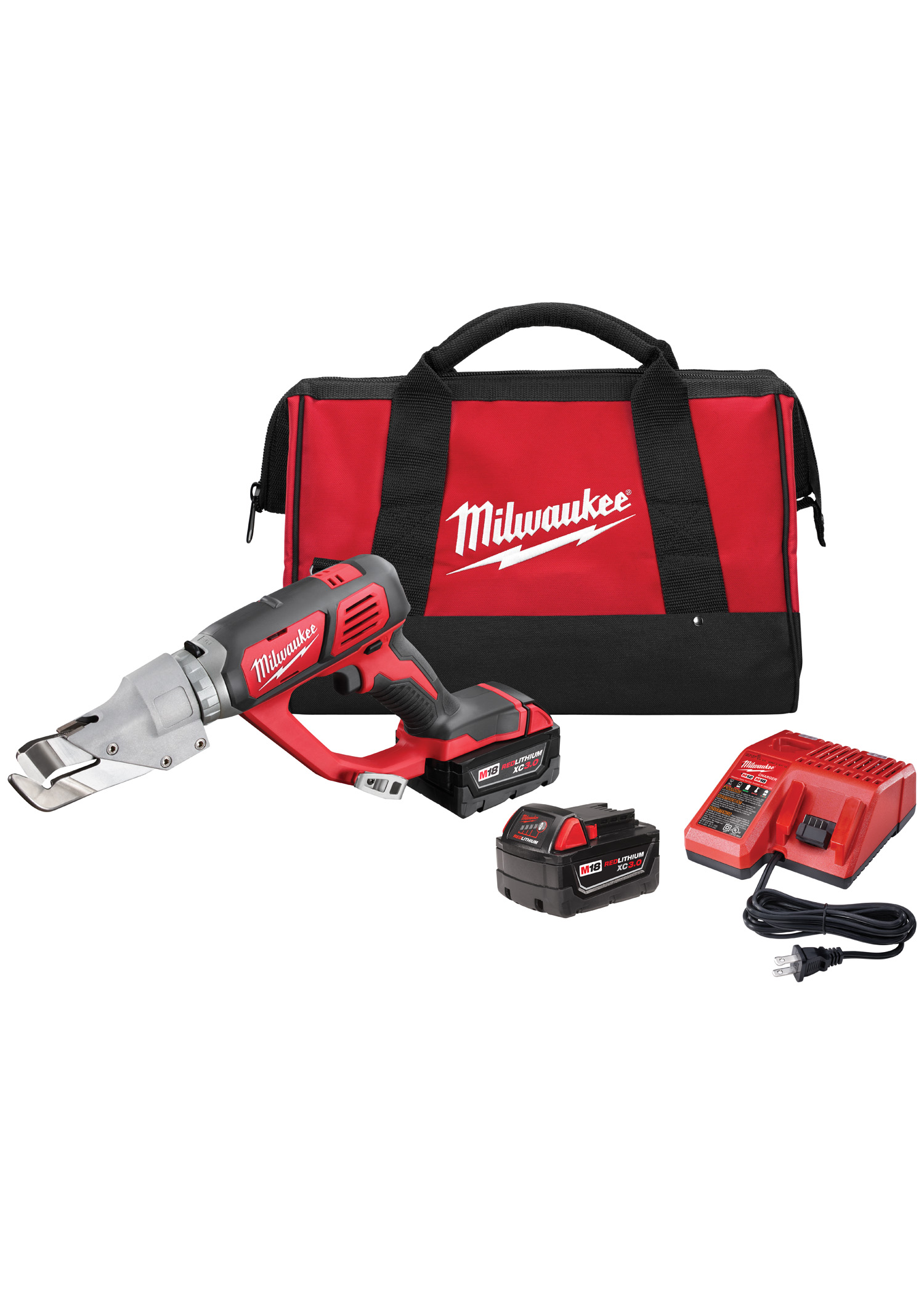 Milwaukee 2637-22 M18™ Cordless 18 Gauge Single Cut Shear - Kit