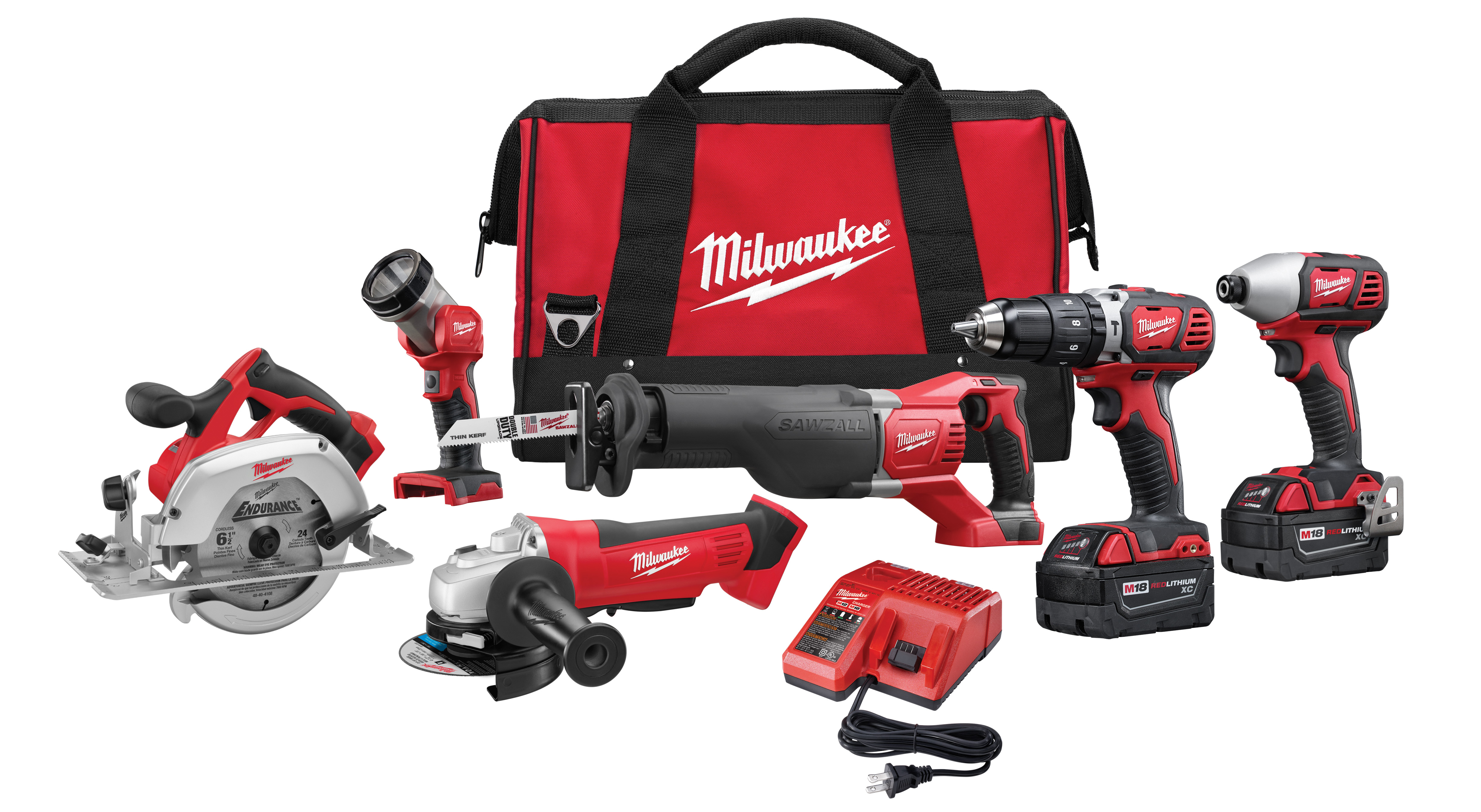 Milwaukee 2696-26 M18™ Cordless Lithium-Ion 6-Tool Combo Kit