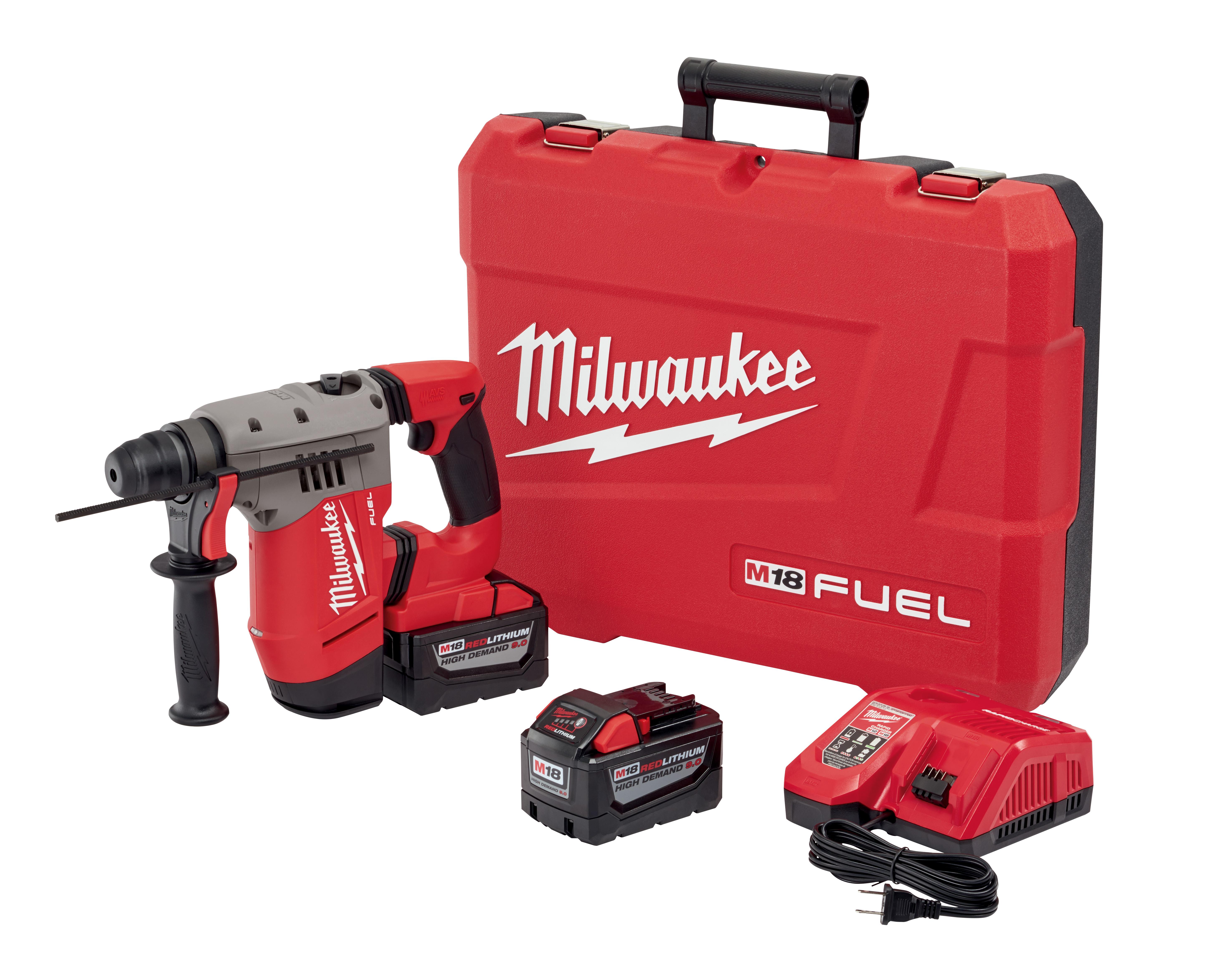 "Milwaukee 2715-22HD M18 FUEL™ 1-1/8"" SDS-Plus Rotary Hammer HIGH DEMAND™ Kit"