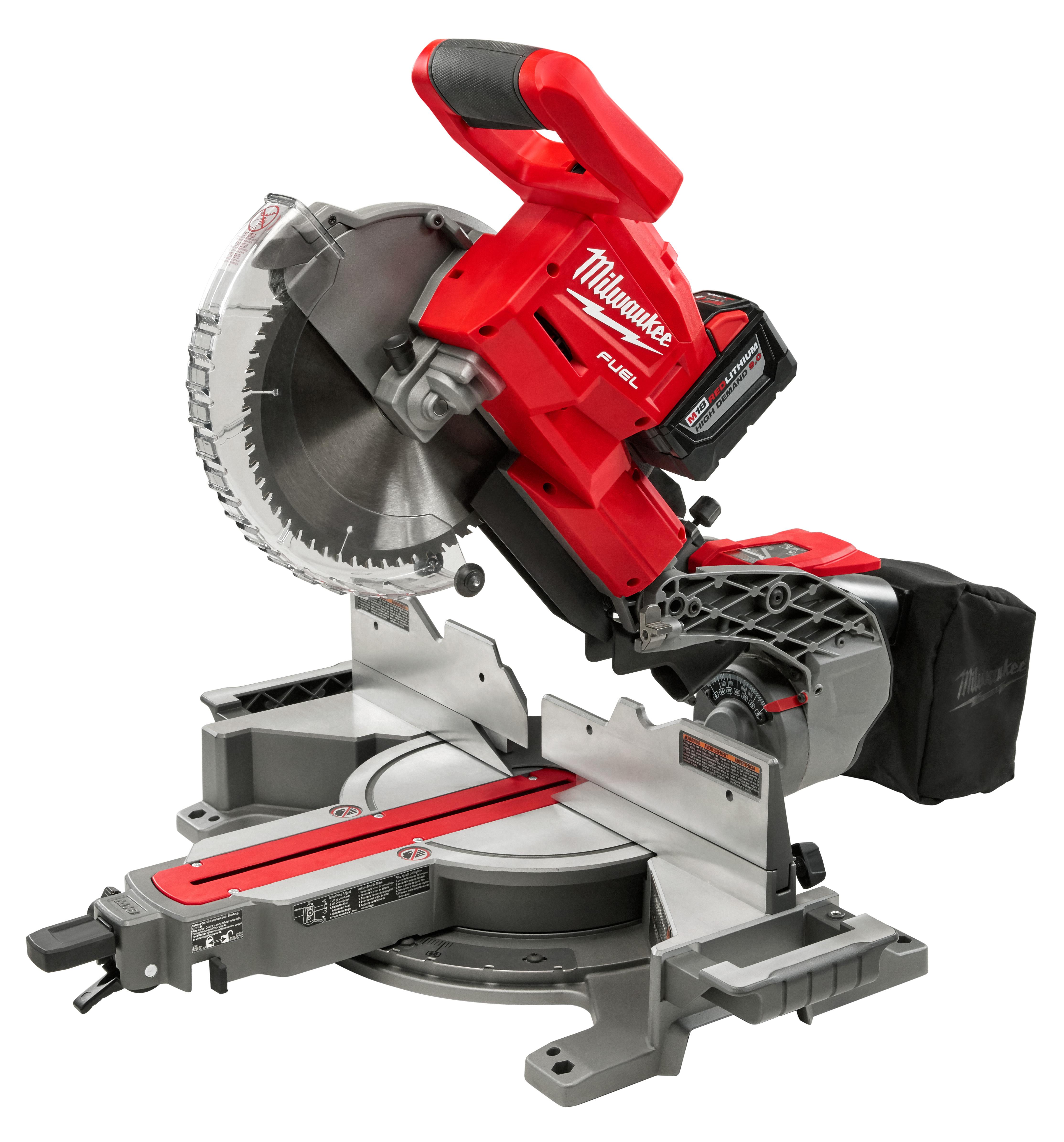 Milwaukee 2734-21HD M18 FUEL™ XC HIGH DEMAND™ Dual Bevel Sliding Compound Miter Saw Kit