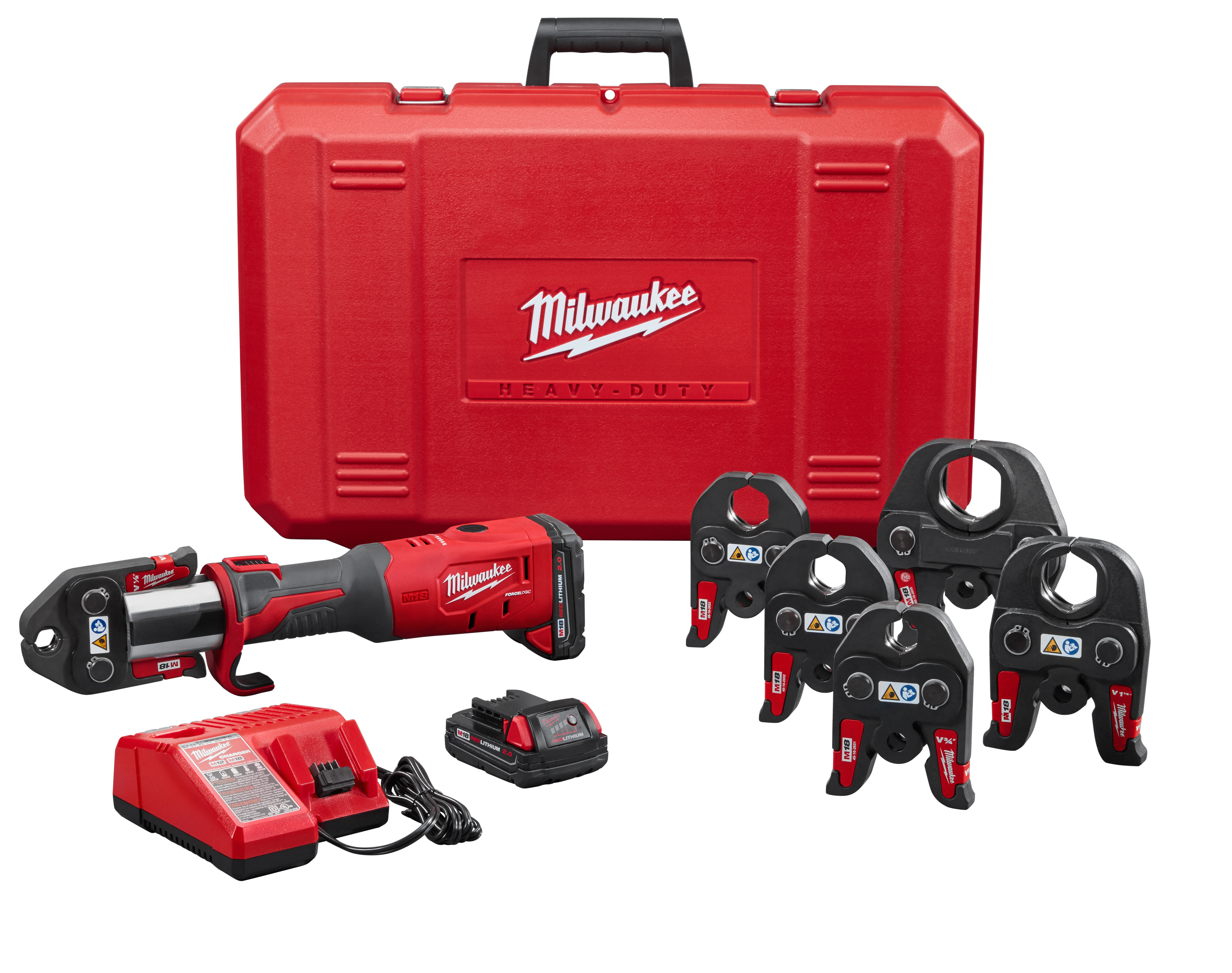"Milwaukee 2773-22 M18™ Force Logic™ Press Tool Kit with 1/2""  2"" Jaws"