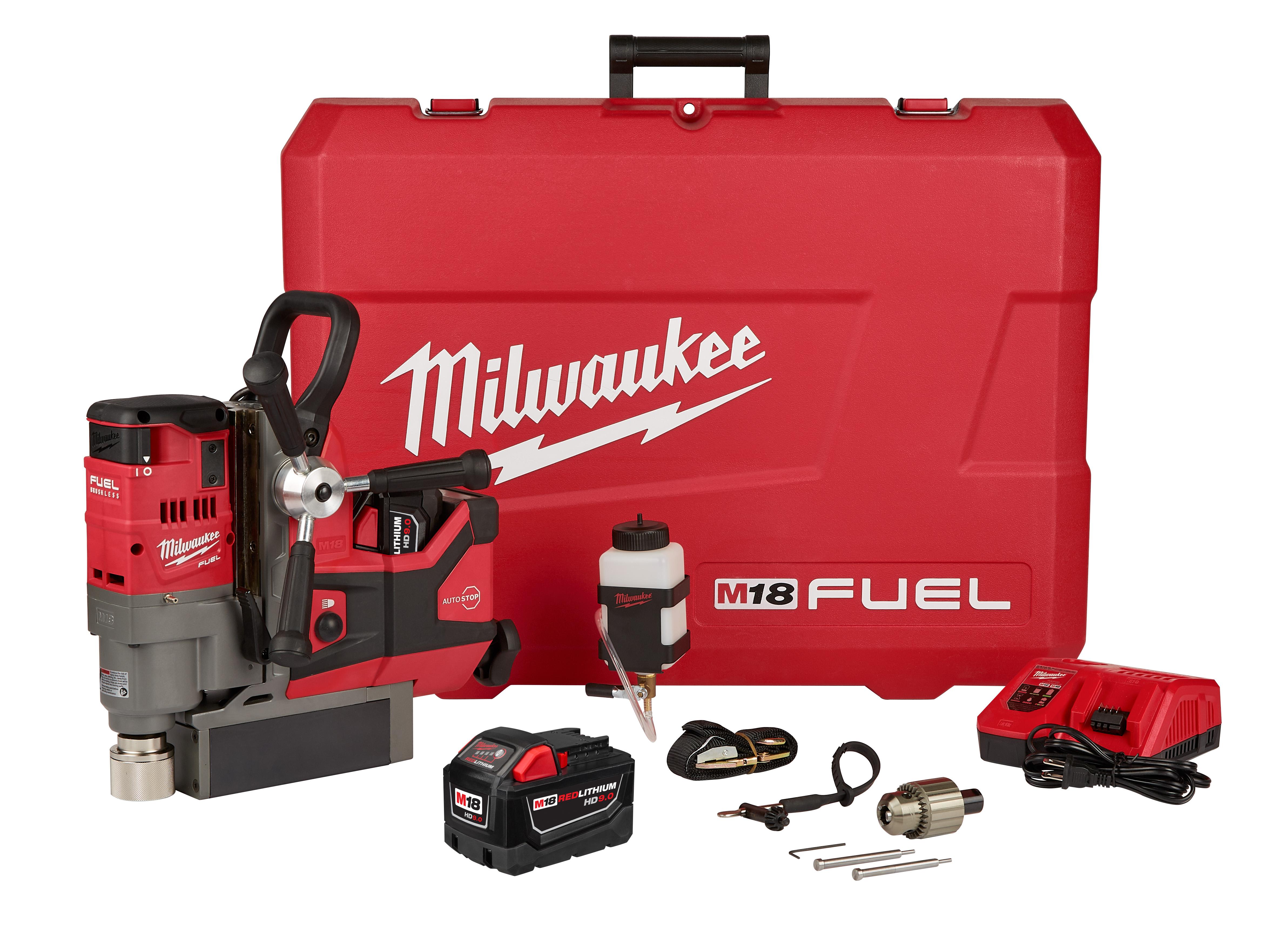 "Milwaukee 2787-22HD M18 FUEL™ HIGH DEMAND™ 1-1/2"" Magnetic Drill Kit"