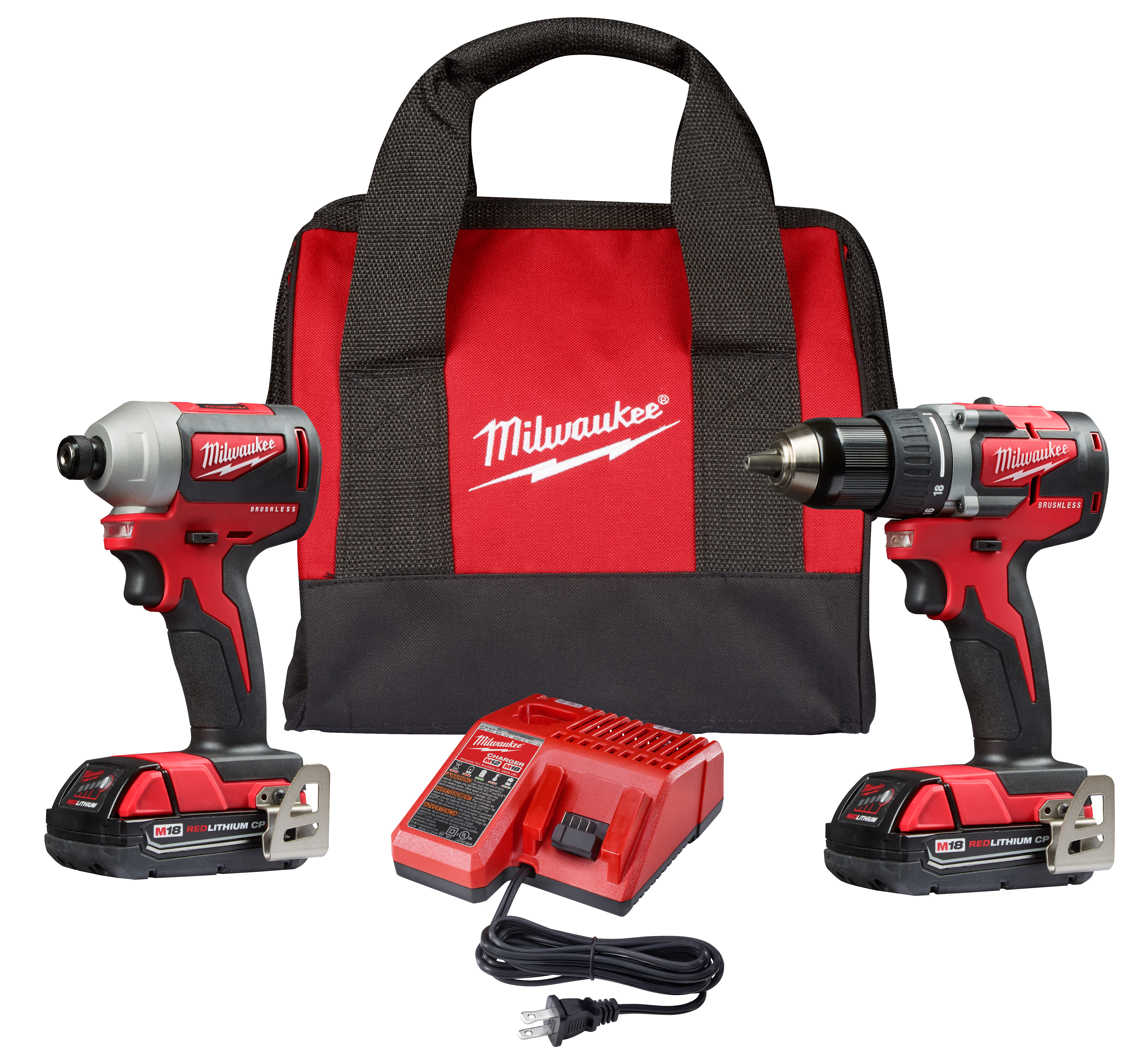 Milwaukee 2892-22CT M18™Compact Brushless Drill Driver/Impact Driver Combo Kit