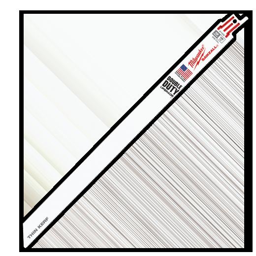 "Milwaukee 48-01-6189 12"" 18 TPI Thin Kerf SAWZALL® Blades (50 Pack)"