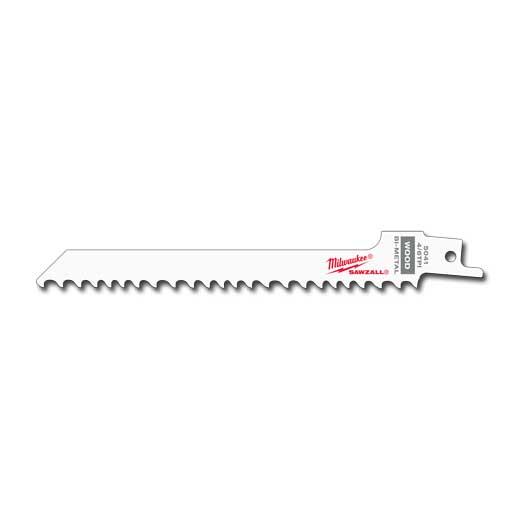 "Milwaukee 48-00-5041 6"" 4/6 TPI SAWZALL® Blades (5 Pack)"