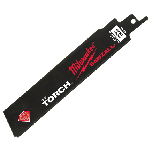 "Milwaukee 48-00-1440 6"" Diamond Grit THE TORCH™ SAWZALL® Blade"