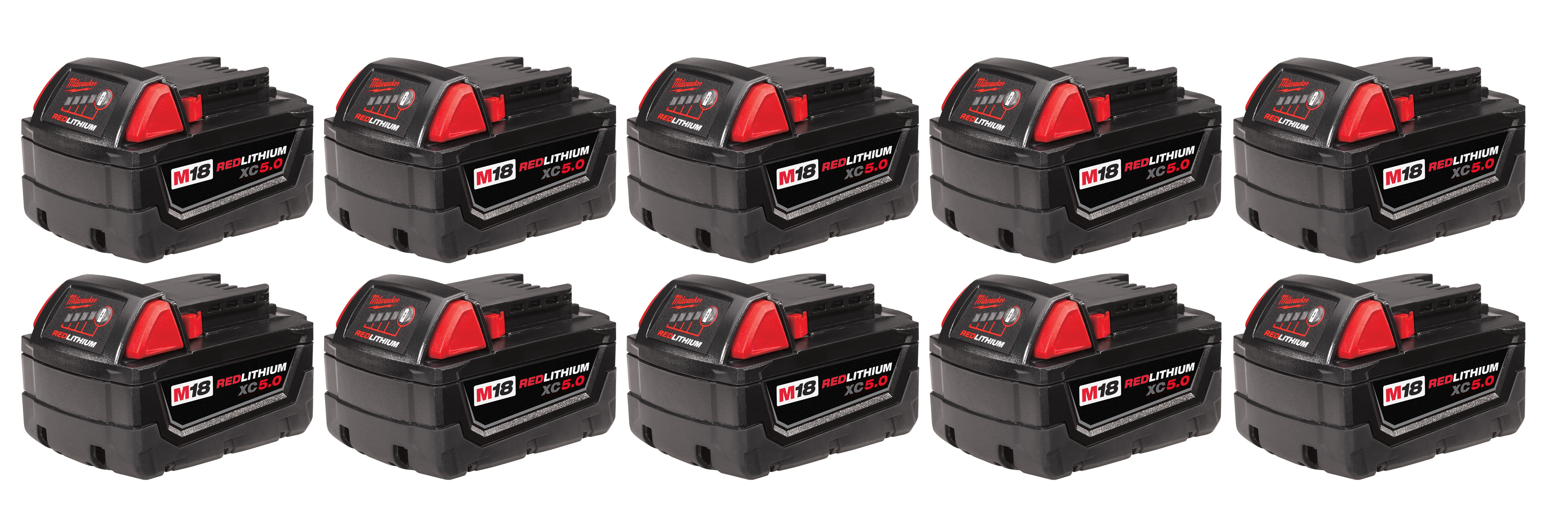 Milwaukee 48-11-1851 M18™ REDLITHIUM™ XC 5.0Ah Extended Capacity Battery Pack (10 Piece)