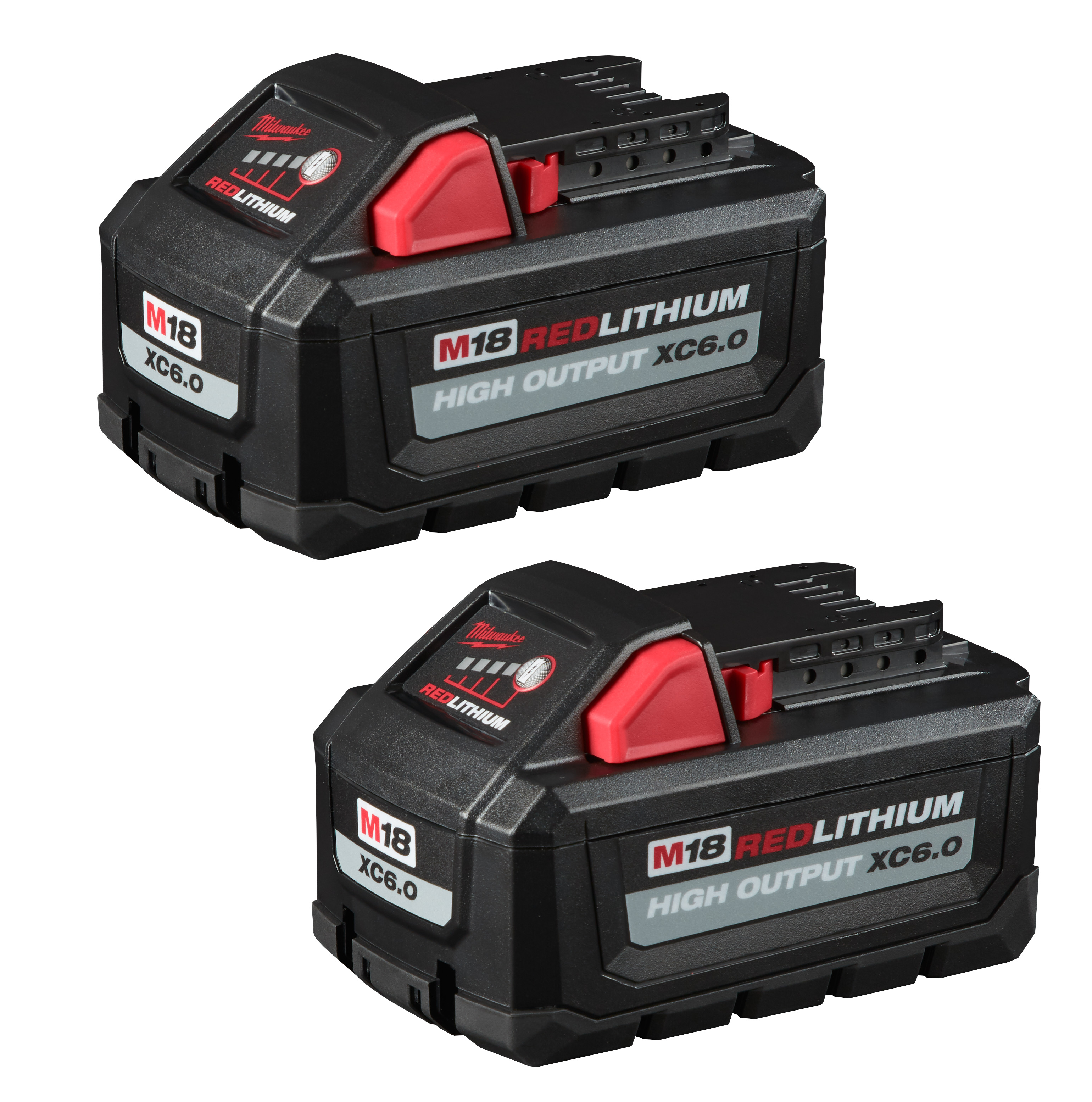 Milwaukee 48-11-1862 M18™ REDLITHIUM™ HIGH OUTPUT™ XC 6.0Ah Battery Pack (2 Piece)
