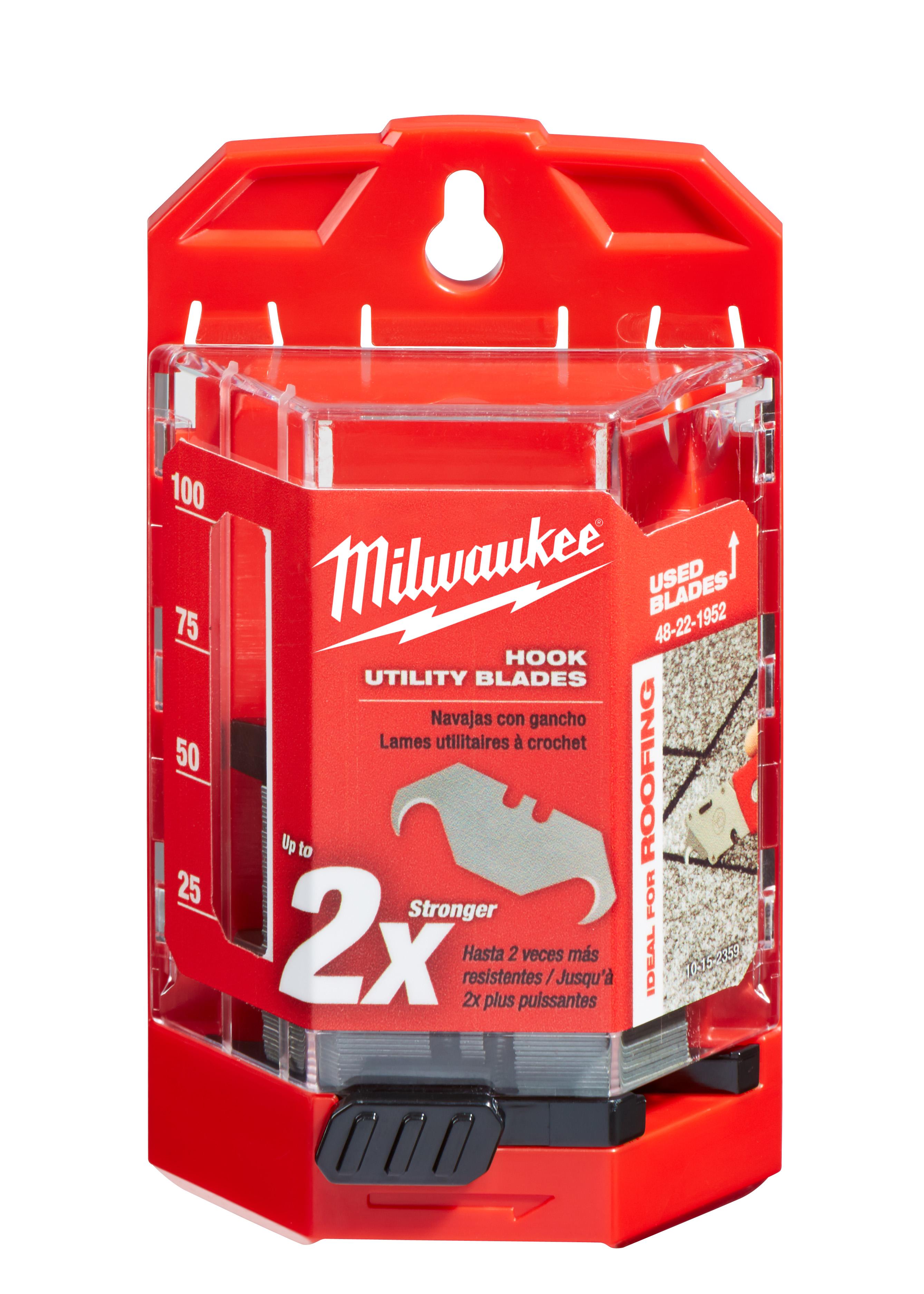 Milwaukee 48-22-1952 50-Piece Hook Utility Knife Blades w/ Dispenser