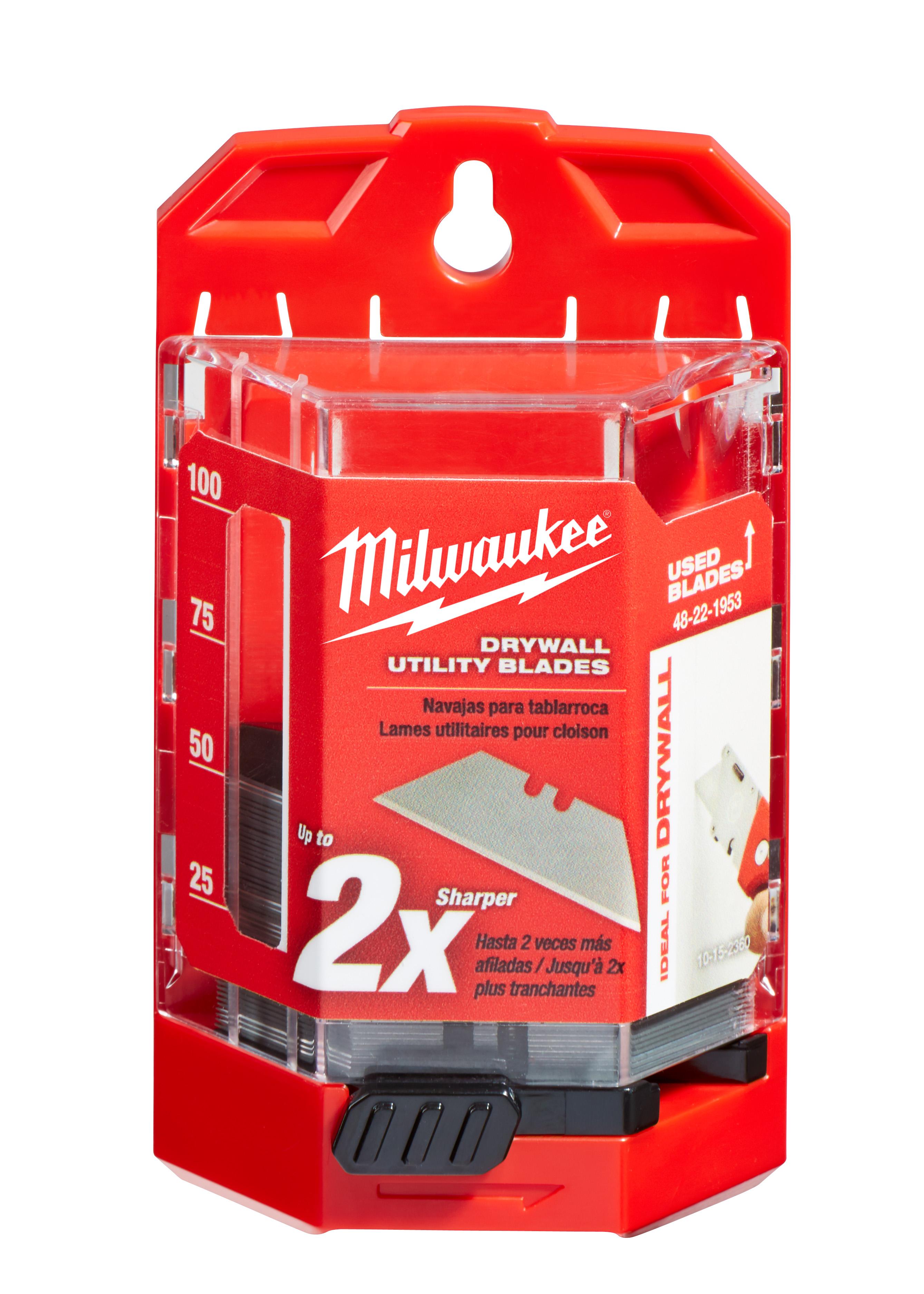 Milwaukee 48-22-1953 50-Piece Drywall Utility Knife Blades w/ Dispenser